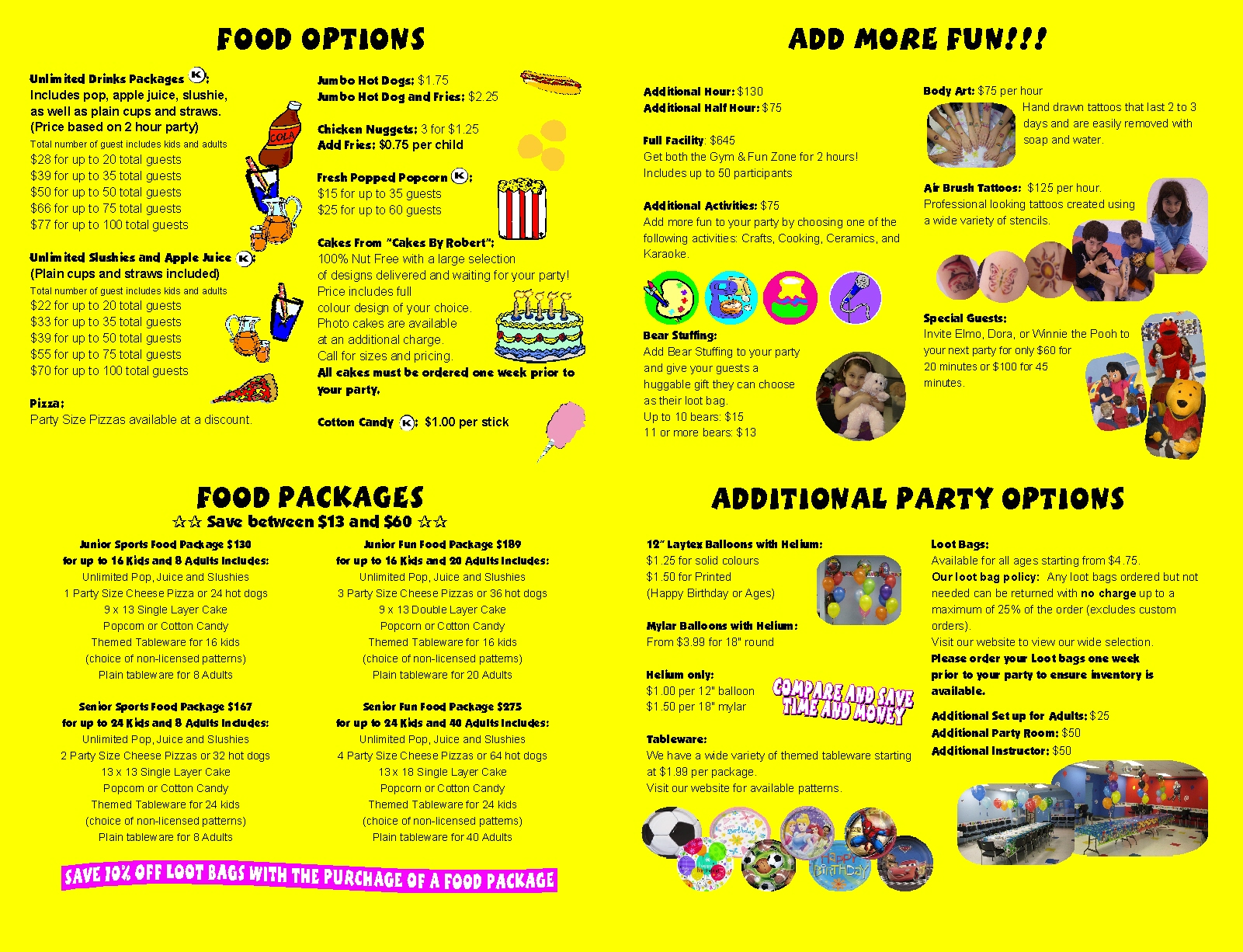 Please select from the list of Lootbags and Tableware below for more information.  sc 1 st  Active Kids Zone & Loot Bags \u0026 Tableware - Active Kids Zone Inc.