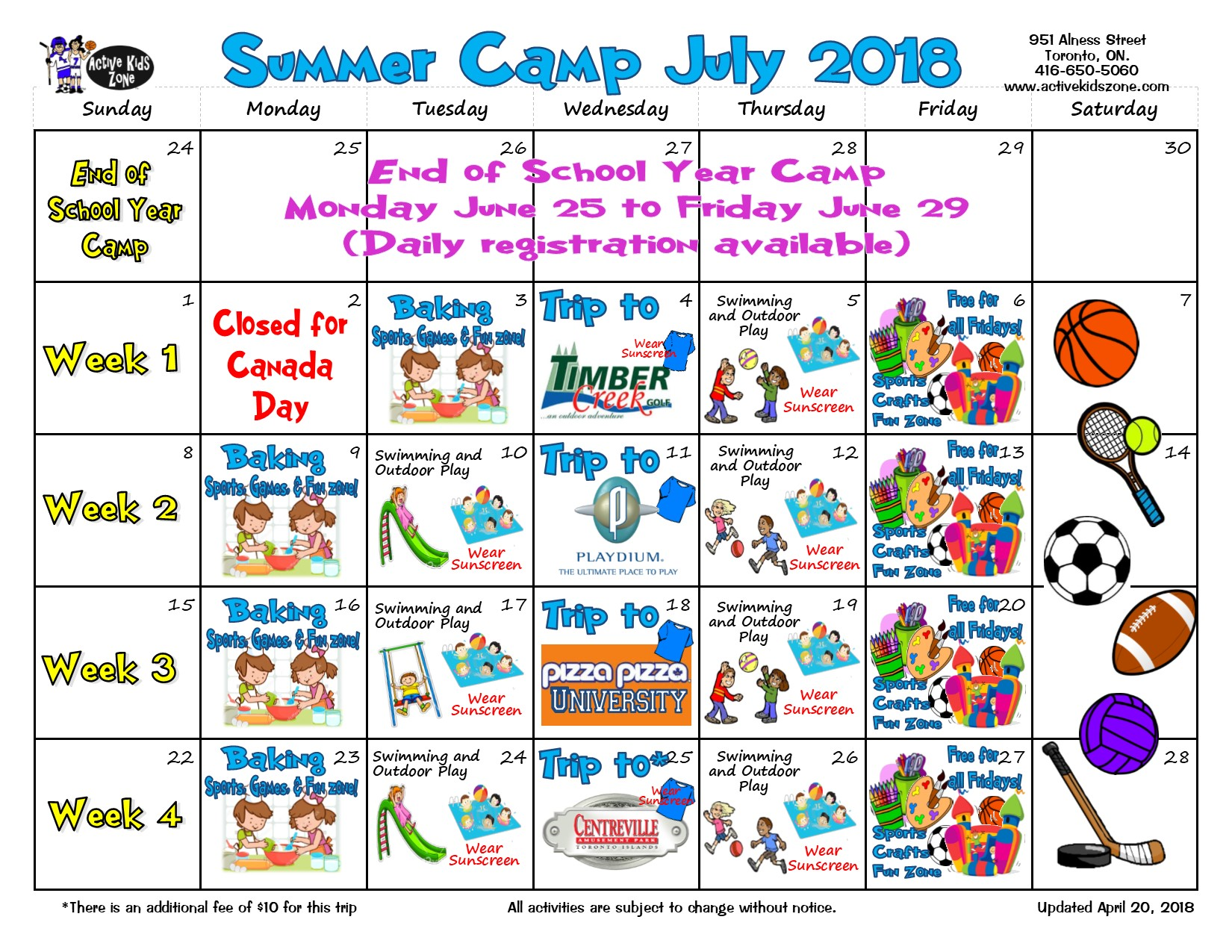 check out our 2018 calendar with all the amazing trips we took last year 2019 calendar coming soon summer camps july