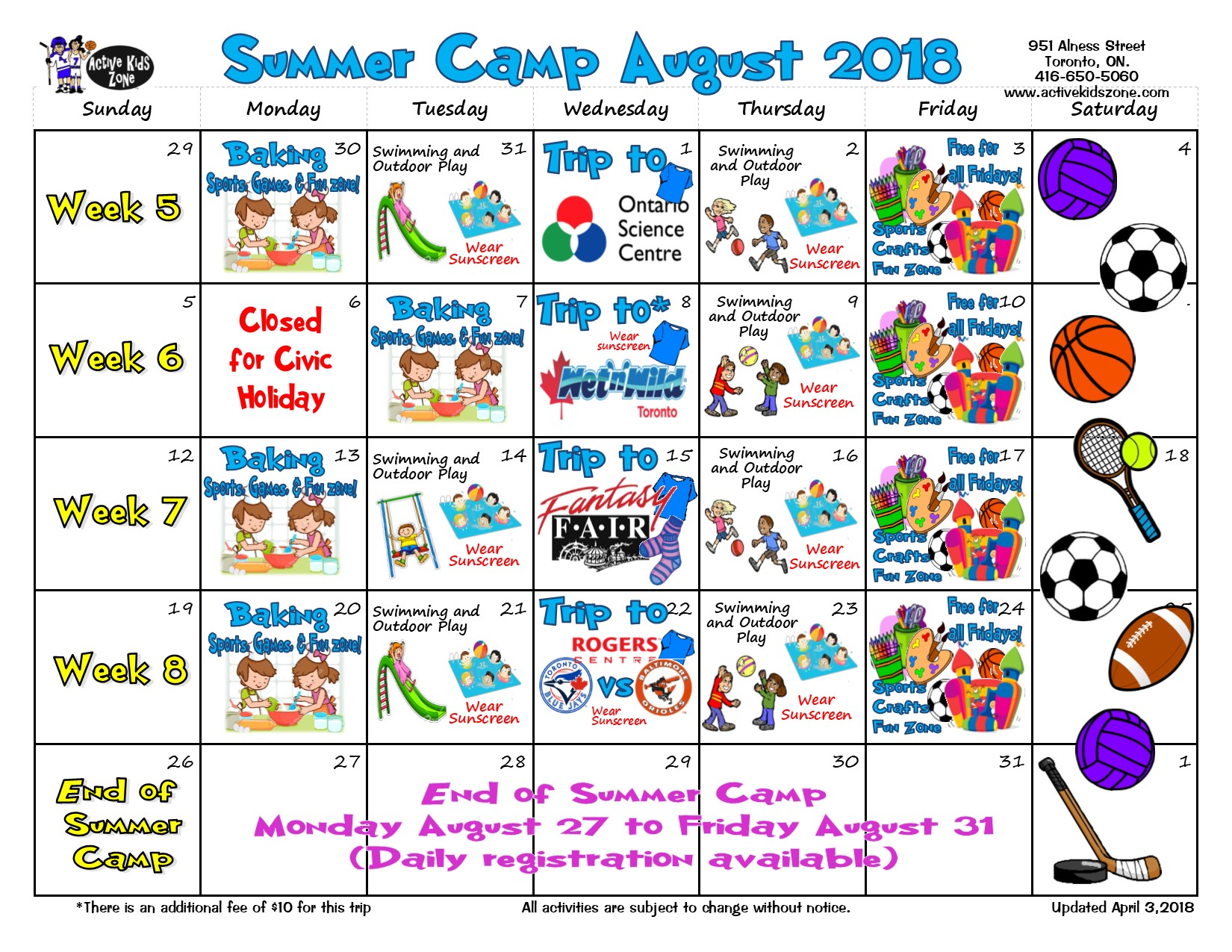 Summer Camps Aug